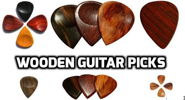 Wooden guitar picks