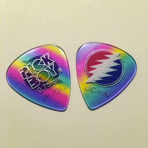 john mayer guitar pick celluloid rainbow pickboy